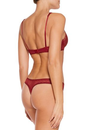 HEIDI KLUM INTIMATES A Roman Crush embroidered tulle thong