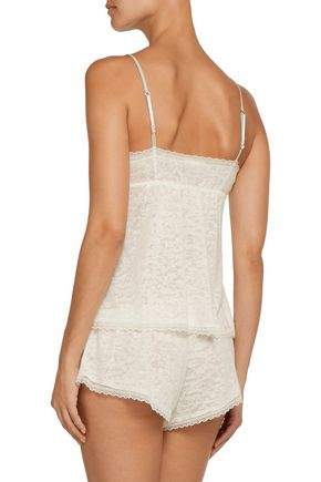 EBERJEY In the Clouds lace-trimmed jersey pajama top
