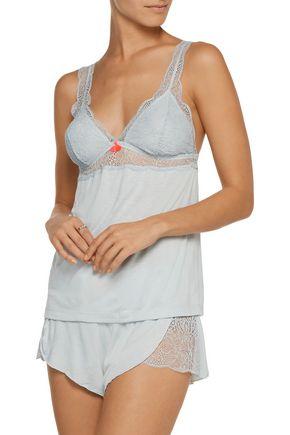 EBERJEY Aubrey lace-paneled jersey camisole