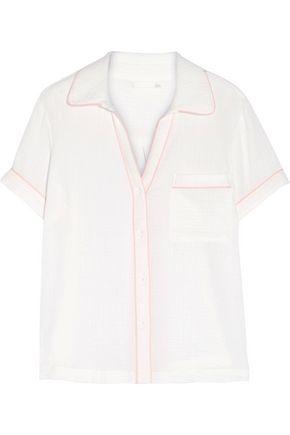 SKIN Anita cotton-gauze pajama top