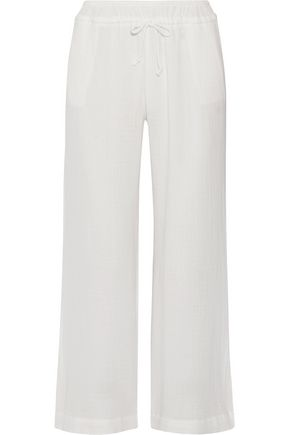 SKIN Olivia cotton-gauze pajama pants
