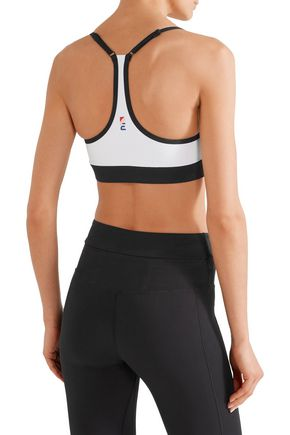 P.E NATION Push Pass printed stretch-jersey sports bra