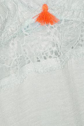 EBERJEY Aubrey lace-trimmed jersey chemise