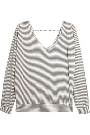 EBERJEY Sadie striped modal-blend jersey pajama top
