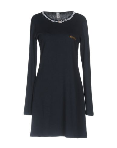 Фото - Ночная рубашка от BLUGIRL BLUMARINE UNDERWEAR темно-синего цвета