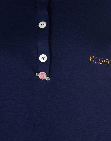 Фото 2 - Женский халат или пижаму BLUGIRL BLUMARINE UNDERWEAR темно-синего цвета
