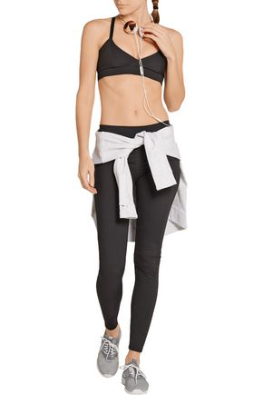 LIVE THE PROCESS V wrap-effect stretch-Supplex® sports bra