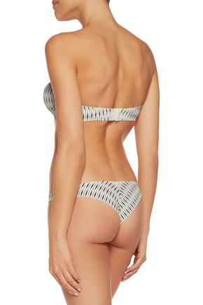 LA PERLA Sexy Town printed stretch-tulle briefs