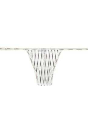 LA PERLA Sexy Town printed stretch-tulle thong
