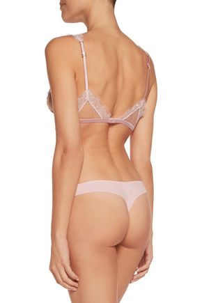 LA PERLA Merveille low-rise lace-trimmed silk-blend briefs