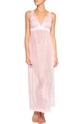 LA PERLA Merveille lace-trimmed modal-blend nightdress