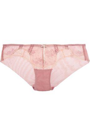 HEIDI KLUM INTIMATES Heidi mid-rise lace and stretch-mesh briefs