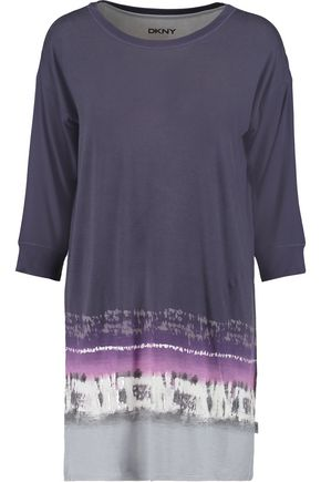DKNY Printed modal-blend jersey nightdress