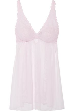 COSABELLA Abilene lace and tulle chemise
