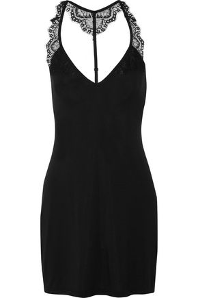 COSABELLA Cheyenne lace-trimmed jersey chemise