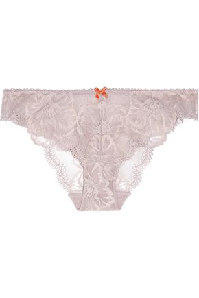 HEIDI KLUM INTIMATES Low-rise scalloped lace briefs