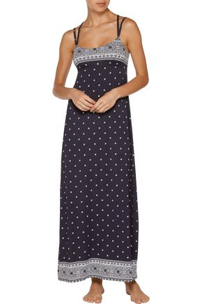 COSABELLA Jolene printed stretch-jersey nightgown