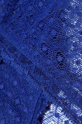 STELLA McCARTNEY Suzie Doting low-rise Leavers lace-trimmed stretch-mesh briefs