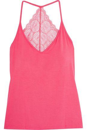 COSABELLA Tamaya cutout lace-paneled stretch-jersey pajama top