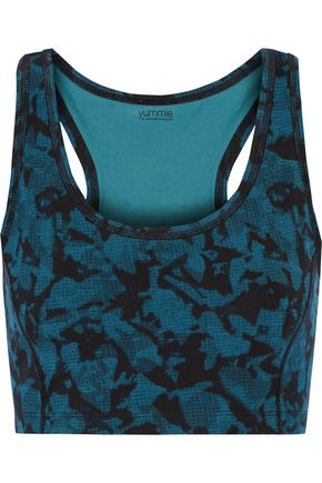 YUMMIE by HEATHER THOMSON® Venus printed cotton-blend bra top