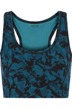 YUMMIE by HEATHER THOMSON® Venus printed cotton-blend bra top