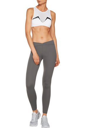 LUCAS HUGH Rio stretch-jersey and mesh sports bra