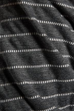 EBERJEY Ticking Stripes printed jersey pajama top