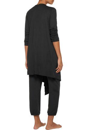 YUMMIE by HEATHER THOMSON® Asymmetric Pima cotton and modal-blend jersey robe