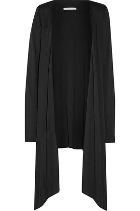 YUMMIE by HEATHER THOMSON Asymmetric Pima cotton and modal-blend jersey robe