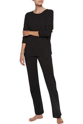 YUMMIE by HEATHER THOMSON® Waffle-knit stretch cotton and modal-blend pajama top