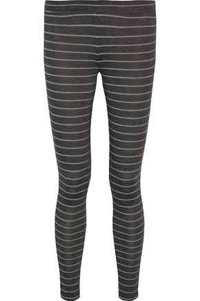 EBERJEY Ticking Stripes printed jersey pajama pants