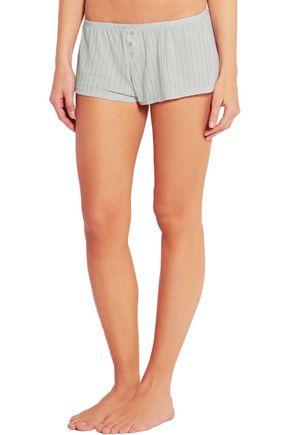EBERJEY Baxter pointelle jersey pajama shorts