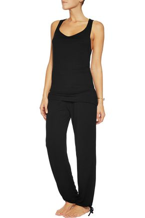 HEIDI KLUM INTIMATES Dolce Como lace-trimmed stretch-modal pajama top