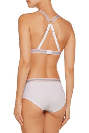 MIMI HOLLIDAY by DAMARIS Rock Candy mid-rise lace and stretch-jersey briefs