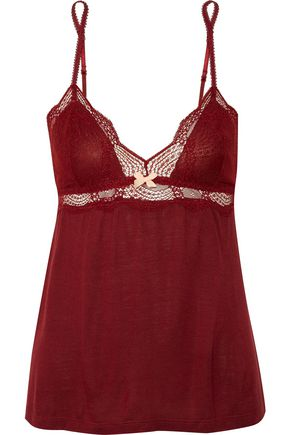 EBERJEY Estelle lace-trimmed jersey camisole