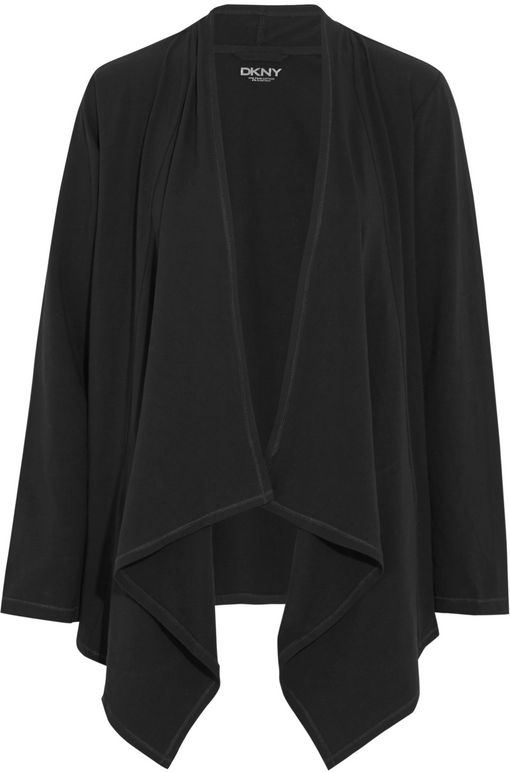 DKNY Stretch-Pima cotton cardigan