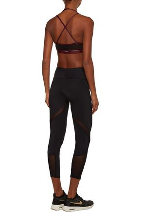 KORAL Breaker Versatility mesh-paneled coated stretch sports bra