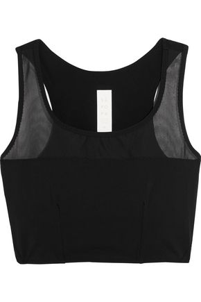 SÀPOPA Elif mesh-trimmed stretch-jersey sports bra