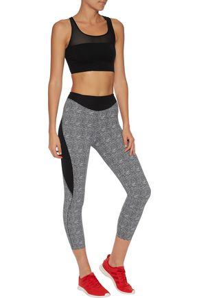 SAPOPA Elif mesh-trimmed stretch-jersey sports bra