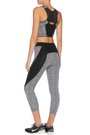 SÀPOPA Elif printed stretch-jersey sports bra