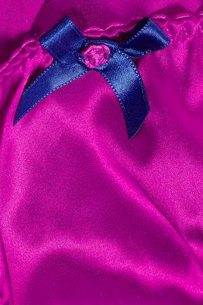 AGENT PROVOCATEUR Molly lace-trimmed silk-blend satin briefs