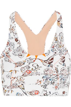 LUCAS HUGH Inca printed stretch-jersey sports bra