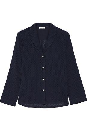 SKIN Snow Flake fil coupé cotton pajama top
