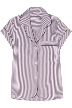BODAS Verbier striped Swiss cotton pajama top