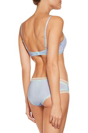 CALVIN KLEIN UNDERWEAR Lace-trimmed stretch-jersey push-up bra