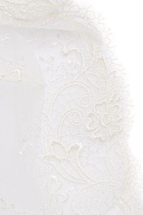 LA PERLA Primula embroidered stretch-tulle soft-cup bra