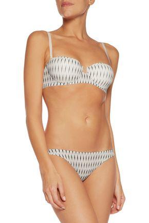 LA PERLA Striped stretch-mesh contour bra