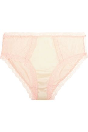 MIMI HOLLIDAY by DAMARIS Spin lace-trimmed satin briefs