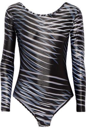 BODYISM I Am Adventurous printed stretch-jersey leotard