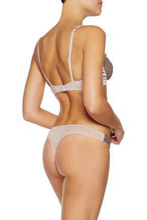 MIMI HOLLIDAY by DAMARIS Lace, satin and tulle briefs